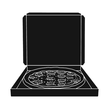 Isolated object of pizza and food symbol. Set of pizza and italy stock vector illustration.