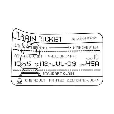 Isolated object of ticket and admission sign. Collection of ticket and event vector icon for stock.