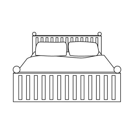 Illustration vectorielle des rêves et symbole de la nuit. Ensemble de rêves et icône de vecteur de chambre pour le stock.