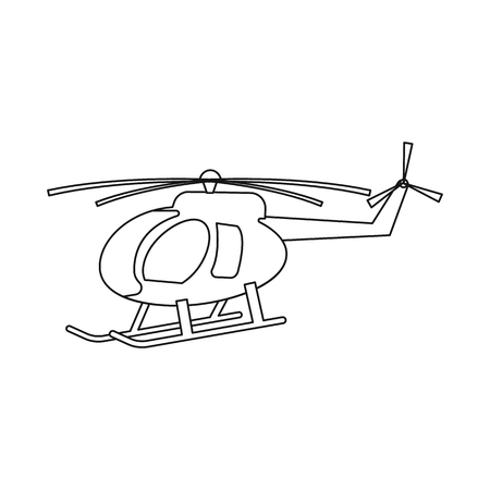 Vector illustration of plane and transport sign. Collection of plane and sky stock vector illustration.