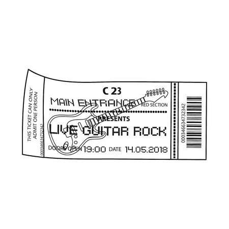 Vector design of ticket and admission icon. Set of ticket and event vector icon for stock.