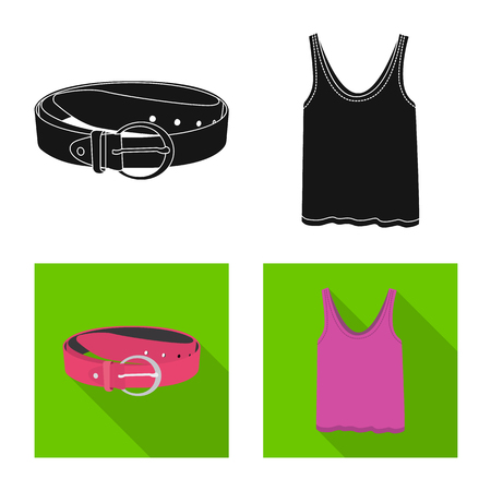 Vector design of woman and clothing logo. Collection of woman and wear vector icon for stock. Illustration