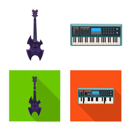 Vector design of music and tune. Set of music and tool stock symbol for web. Illustration