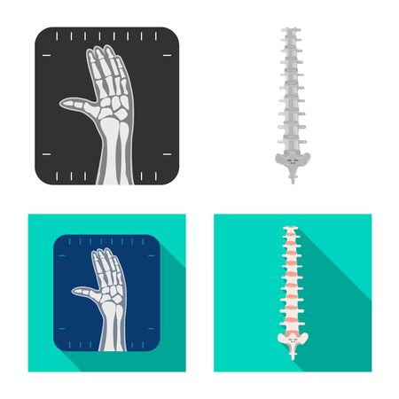 Isolated object of body and human sign. Collection of body and medical stock symbol for web. Ilustrace