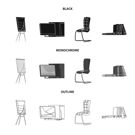 Vector illustration of furniture and work logo. Set of furniture and home vector icon for stock. Vectores