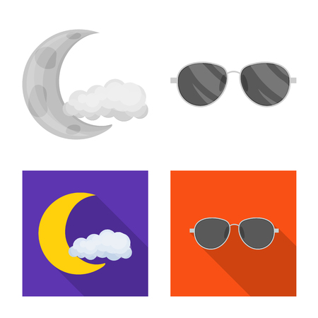 Isolated object of weather and climate logo. Set of weather and cloud vector icon for stock.