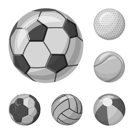 Objet isolé du logo du sport et du ballon. Collection d'icônes vectorielles sport et athlétique pour stock. Logo