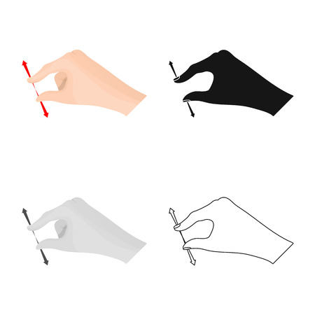 Isolated object of touchscreen and hand symbol. Set of touchscreen and touch vector icon for stock. Illustration