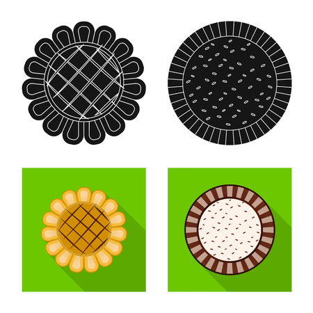 Vector illustration of biscuit and bake icon. Set of biscuit and chocolate stock vector illustration. Illustration