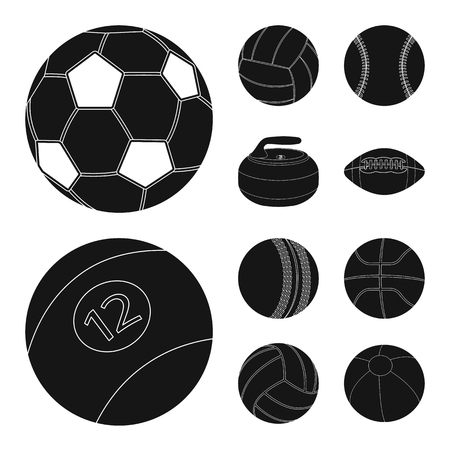 Vector illustration of sport and ball logo. Collection of sport and athletic stock symbol for web. Logo