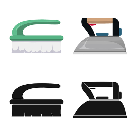 Vector illustration of laundry and clean sign. Set of laundry and clothes stock vector illustration.