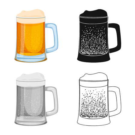 Isolated object of drink and bar symbol. Collection of drink and party stock symbol for web.