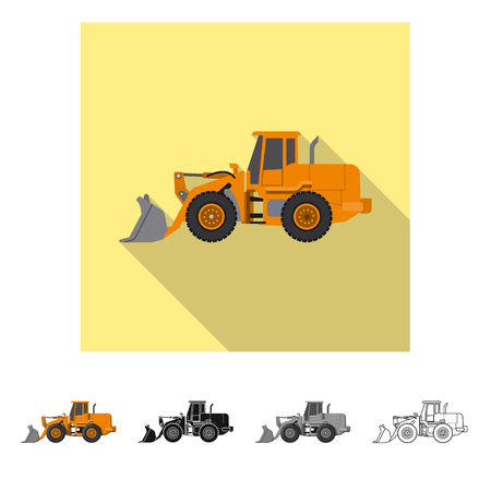 Isolated object of build and construction symbol. Set of build and machinery stock symbol for web. Illustration
