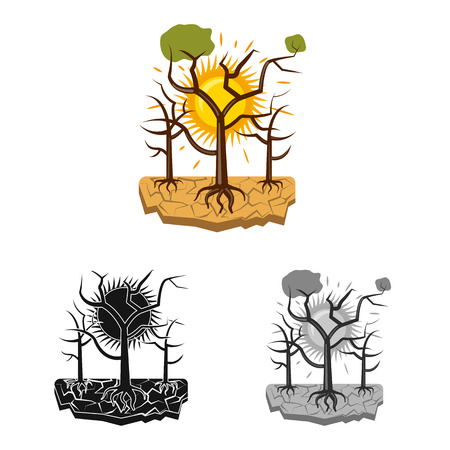 Vector illustration of natural and disaster symbol. Collection of natural and risk stock vector illustration.