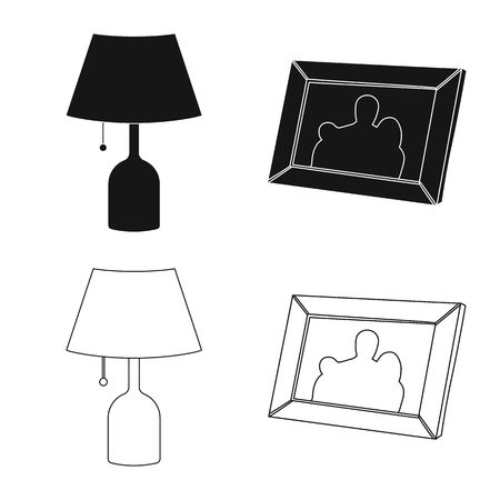 Isolated object of dreams and night logo. Set of dreams and bedroom vector icon for stock.