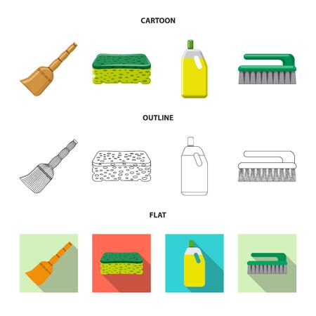 Conception de vecteur d'icône de nettoyage et de service. Collection de nettoyage et symbole boursier pour le web. Vecteurs