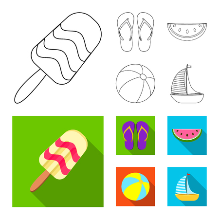 Isolated object of equipment and swimming logo. Collection of equipment and activity stock symbol for web. Logo