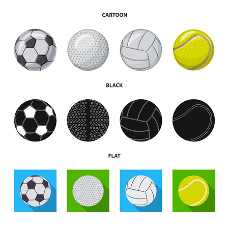 Isolated object of sport and ball symbol. Set of sport and athletic vector icon for stock.