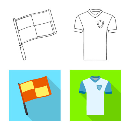 Isolated object of soccer and gear logo. Collection of soccer and tournament stock symbol for web.