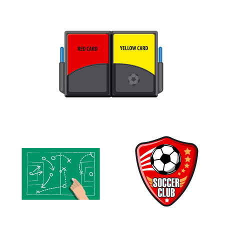Vector illustration of soccer and gear sign. Collection of soccer and tournament vector icon for stock.