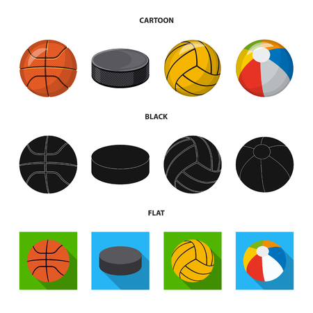Isolated object of sport and ball icon. Collection of sport and athletic stock vector illustration.