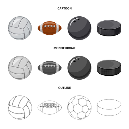 Vector illustration of sport and ball sign. Set of sport and athletic vector icon for stock. Ilustração