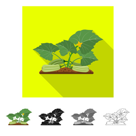 Vector illustration of greenhouse and plant icon. Set of greenhouse and garden stock vector illustration. Ilustracja