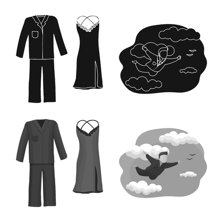 Isolated object of dreams and night logo. Collection of dreams and bedroom vector icon for stock.