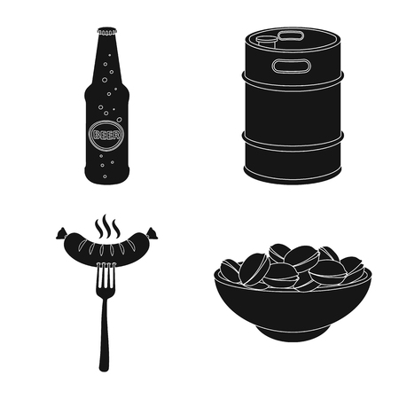Isolated object of pub and bar symbol. Collection of pub and interior stock symbol for web.
