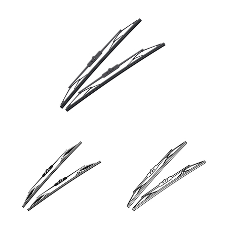 Vector design of auto and part icon. Set of auto and car vector icon for stock. Foto de archivo - 116818050
