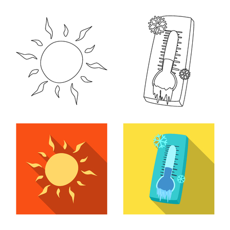 Isolated object of weather and climate icon. Collection of weather and cloud stock symbol for web.