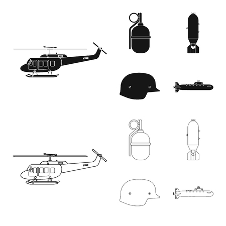 Vector design of weapon and gun symbol. Set of weapon and army stock symbol for web.