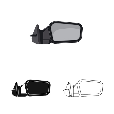 Vector illustration of auto and part icon. Collection of auto and car stock symbol for web. Ilustração