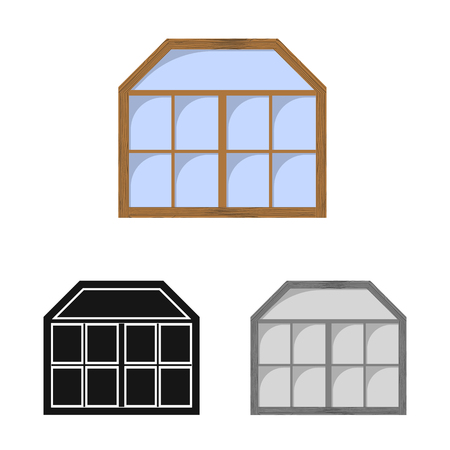 Vector design of door and front icon. Collection of door and wooden vector icon for stock. Stock Illustratie