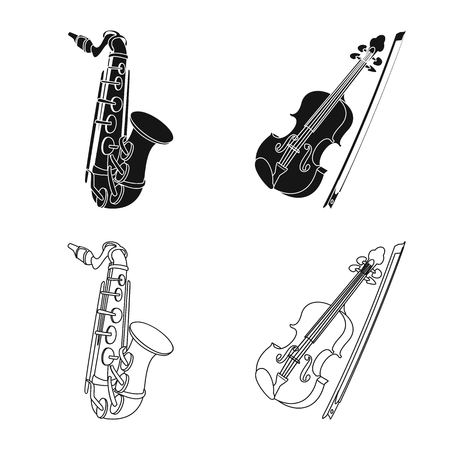 Vector design of music and tune. Set of music and tool stock symbol for web. Banque d'images - 116980406