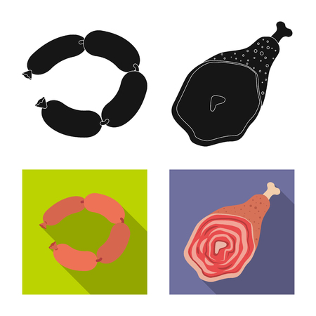 Vector illustration of meat and ham icon. Collection of meat and cooking vector icon for stock. Illusztráció