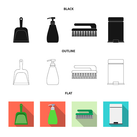 Vector illustration of cleaning and service sign. Collection of cleaning and household vector icon for stock.