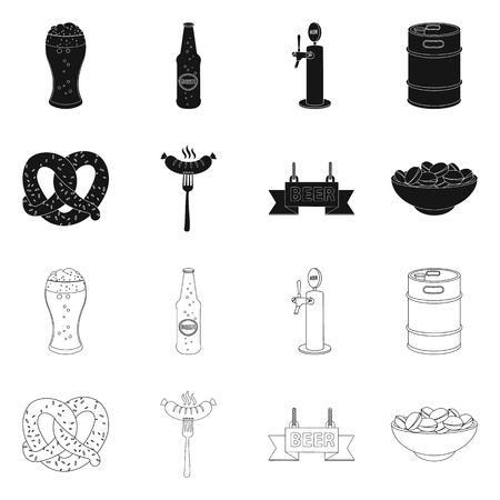 Vector illustration of pub and bar. Collection of pub and interior vector icon for stock.