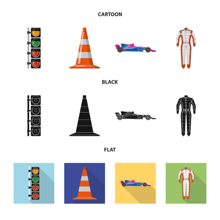 Vector design of car and rally. Collection of car and race stock vector illustration.