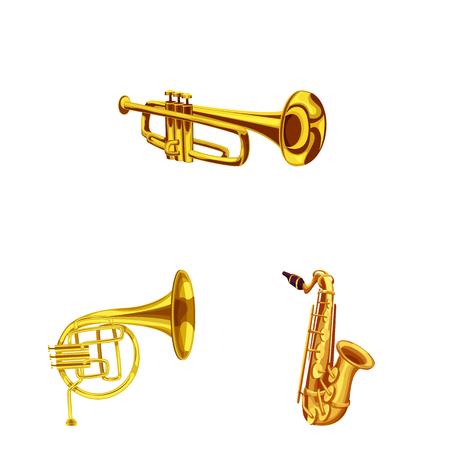 Objet isolé de la musique et du signe de la mélodie. Ensemble de musique et symbole boursier pour le web.