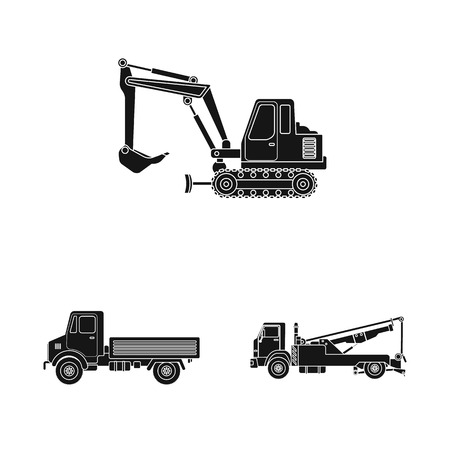 Vector design of build and construction icon. Set of build and machinery vector icon for stock.