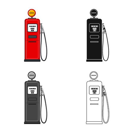 Vector design of oil and gas sign. Set of oil and petrol stock vector illustration.