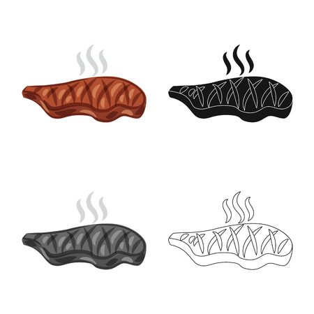 Vector illustration of meat and ham icon. Collection of meat and cooking stock vector illustration. Stock fotó - 117224517