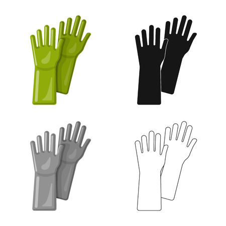 Ilustración de vector de icono de limpieza y servicio. Conjunto de símbolo de stock de limpieza y hogar para web.