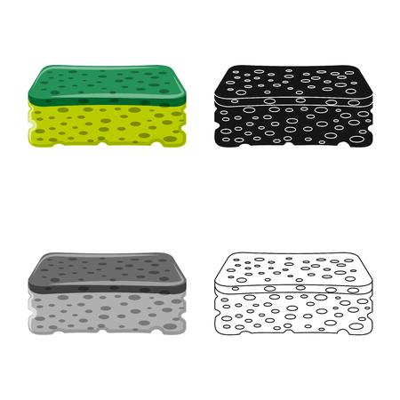 Objet isolé du logo de nettoyage et de service. Collection de nettoyage et illustration vectorielle de ménage.
