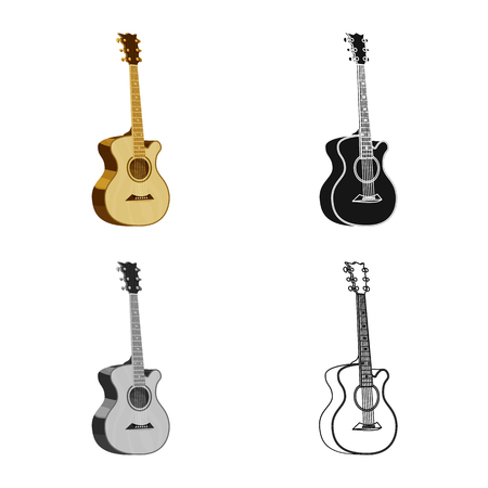 Vector illustration of music and tune icon. Set of music and tool stock symbol for web. Illustration