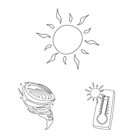 Isolated object of weather and climate icon. Collection of weather and cloud stock symbol for web. Vector Illustration