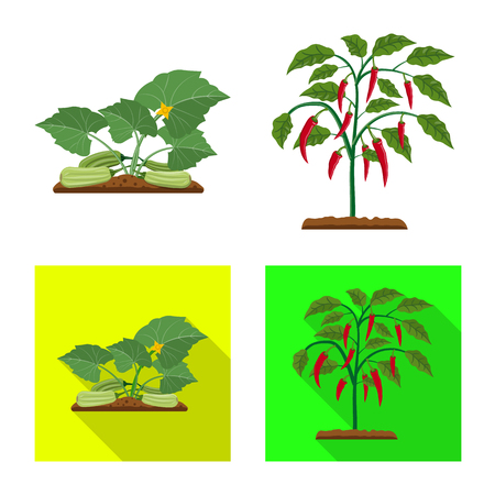 Isolated object of greenhouse and plant logo. Collection of greenhouse and garden vector icon for stock.