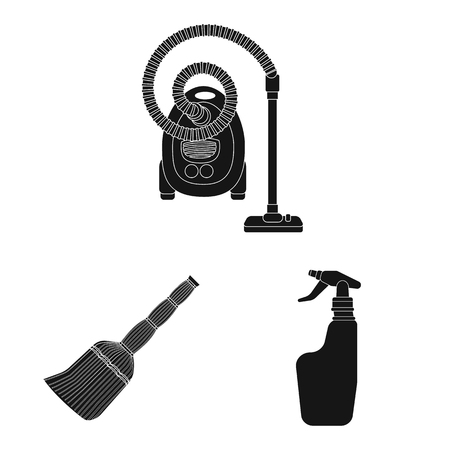 Vector design of cleaning and service icon. Collection of cleaning and household stock vector illustration.