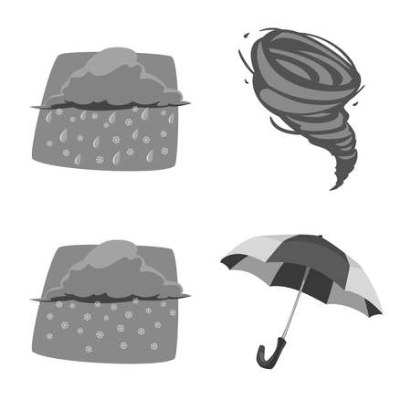 Vector design of weather and climate logo. Collection of weather and cloud vector icon for stock. 일러스트